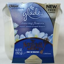 1 GLADE DANCING FLOWERS JASMINE & APPLE BLOSSOM NEW 3 WICK LARGE 6.8oz CANDLES