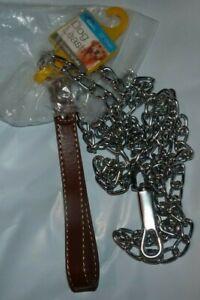 "NEW DUKES 72"" Dog Chain Leash - Durable Handle - NEW NWT"