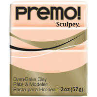"""Premo Sculpey Polymer Clay 2oz-Beige, Set Of 5"""