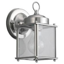 Sea Gull Lighting New Castle 1-Light Antique Brushed Nickel Outdoor Fixture, HD6