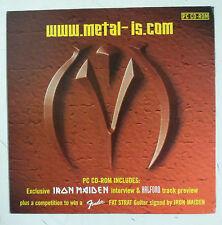 Iron Maiden www.metal-is.com Cd-Rom Europa 2000 Promo portada cartón color