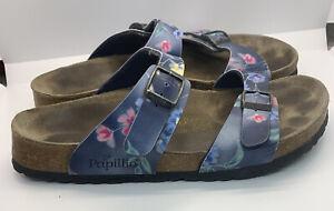 Birkenstock Papillio Floral print Sandals Excellent Tread Eur 40 L 9 M 7 EUC