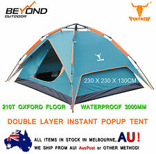 Double Layer Pop Up C&ing C& Tent 3 ~ 4 Person Outdoor waterproof  sc 1 st  eBay & Pop Up Double Skin Camping Tents | eBay