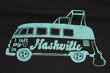 "Large black VW Microbus ""I left my heart in Nashville"" t shirt Tenessee"