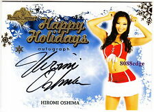 2013 BENCHWARMER HOLIDAY AUTO: HIROMI OSHIMA - AUTOGRAPH BLUE BACKGROUND PLAYBOY