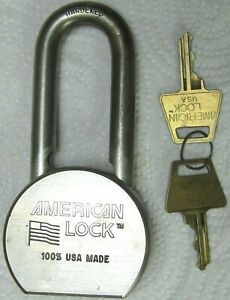 "1 AMERICAN LOCK padlock ""100% USA MADE"" series 700 w/2 keys"