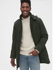 Gap Men's Cold Control City Parka, sz XL TALL Jacket Coat #496252 Forest Green