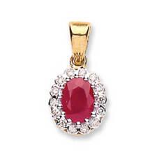 8cc261b0c53a Collares y colgantes de joyería con diamantes en oro amarillo rubí