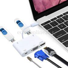 USB Type C a VGA HDMI USB 3.0 Hub Cable Adaptador Cargador Por Macbook Pro 2016