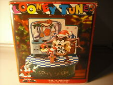 New Enesco Looney Tunes Taz In The Kitchen Multi-Action Music Box NIB