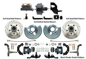 Mopar A Body Dodge Dart Small Bolt Pattern 5x4 Disc Brake Kit Drilled Rotors