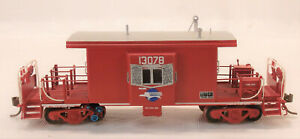 HO OVERLAND MODELS BRASS MISSOURI PACIFIC BAY WINDOW CABOOSE #13078 PAINTED
