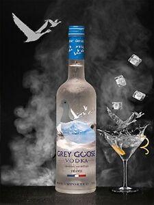 Grey Goose Vodka pub bar metal wall art decor sign plaque