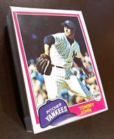 50) TOMMY JOHN New York Yankees 1981 Topps Baseball Card #550 LOT