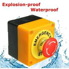 10A 660V 1 NO 1 NC Mushroom Emergency Stop Push Button Red Switch Waterproof