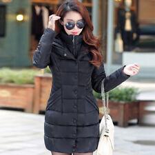 2018Women Winter Hooded Cotton Padded Down Jacket Outwear Long Puffer Coat Parka
