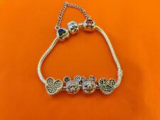 19cm Pandora s925 ale Disney Bracelet With 4 Disney Charms and Safety Chain