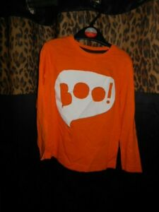 Boys Orange And White Boo T-Shirt Size 3-4 Years