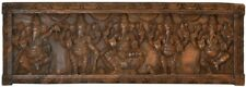 "JAI Ganesha Temple Wood Hand Carved Wall Hanging 11.5""Figure God Hindu Art 4.5KG"