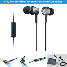 SONY MDR-EX650AP Black Brown Smartphone-capable In-ear Headphones BLACK