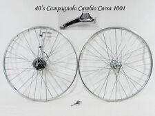 Vintage 1940's CAMPAGNOLO CAMBIO CORSA 1001 Complete w Wheels GROUPSET Top cond!