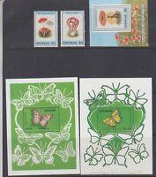 Grenada 1989 Butterflies and Mushroom Mint hinged