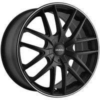 "4-Touren TR60 17x7.5 5x112/5x120 +42mm Matte Black/Ring Wheels Rims 17"" Inch"