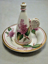 Antique English Porcelain Minton China WINGED FLORAL Candle Snuffer hand paint