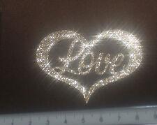 Coeur Love  gold light  patch termocollant à customiser hotfix Glitter 7 cm