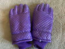 Thinsulate Womens Iradescent Purple Vintage Winter Gloves Snow Ski