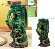 SCULPTED MYSTICAL DRAGON ACCENT, END, SIDE OR NIGHT TABLE ** NIB
