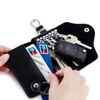Men Women Lady PU Leather Purse Wallet Coin Key Holder Case Pouch Bag LD