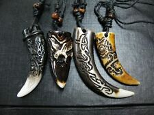 12 pcs HAND MADE Tibet Men Mythology talismans Dragon Hawk Amulet Necklace