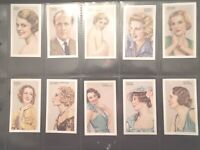 1935 Gallaher Cinema & Stage Movie Stars set 48 cards Tobacco Cigarette lot