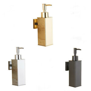 Stainless Steel Gold Bathroom Lavatory Soap Lotion Dispenser Pump Wall Mount