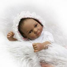 10in. Nicery BEBE Reborn Baby Indian Doll girl Silicone Black Skin 26cm Toy gift