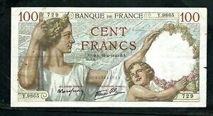 France (P94) 100 Francs 1940