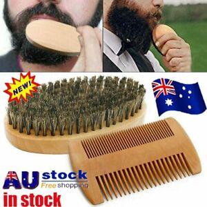 Boar Bristle Beard Brush & Wooden Comb Kit Beard Care Kit l Beard Grooming Kit