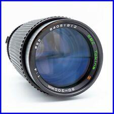 TOKINA 80-200mm f4 OLYMPUS OM mount vintage zoom lens obiettivo tele manuale