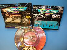 MISP MICRO MACHINES STAR WARS Space SHIP SET & Imperial Officers & DC Y-WING
