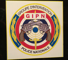 GROUPE D`INTERVENTION POLICE NATIONALE `GIPN` MAGNETIC SIGN + FREE  GIPN STICKER