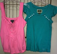 Mixed Lot Polo Pink Turquoise Blue Summer Tops Women's S 3-5