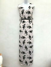 'Eternity' Phase Eight Maxi Dress ~ UK 14 ~ Pale Pink & Black Floral ~ NEW