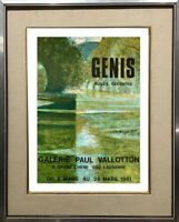 RENE GENIS (1922-2004) AFFICHE LITHOGRAPHIQUE GALERIE LAUSANNE 1981 (25)