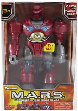 M.A.R.S. Motorized Walking Cyber Bot Attack Robot Red Revo - 7 inches