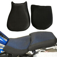 2Pcs Black Motorcycle Seat Cover Breathable Cooling Mesh Pad For BMW R1200GS ADV