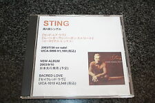 The Police Sting / JAPAN AcetatePromoCD / Send Your Love / 2 VERY RARE VERSIONS