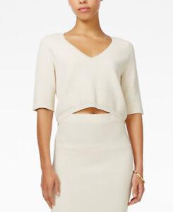 Rachel Roy Women's Elbow Sleeve Ivory Top Size M Retail