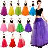 Women Long Petticoat Rockabilly Layered Skirt Crinoline Underskirt Slip Vintage