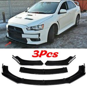 Fits Mitsubishi Lancer Front Bumper Lip Splitter Spoiler Sporty Styling Body Kit